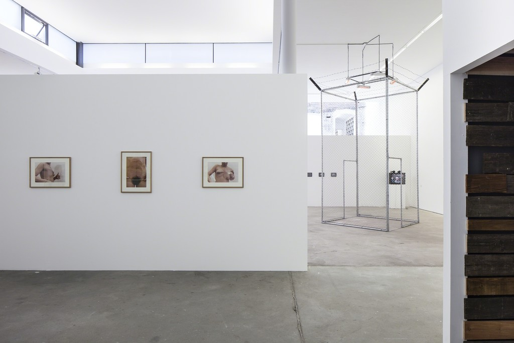 """Installation view of """"Fire and Forget. On Violence"""" at KW Institute for Contemporary Art. Photo: Timo Ohler"""