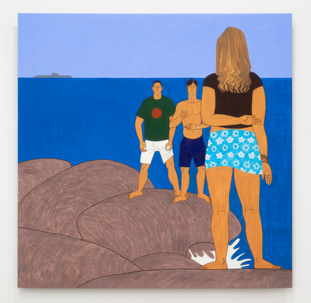 Yves Tessier, '3 Youths on the Jetty', 2015, James Fuentes