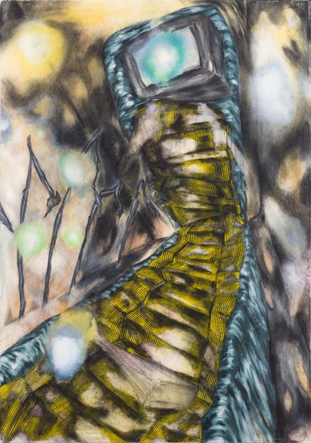Magdalena West, 'Die hintergegangene Treppe', 2014, Painting, Ölfarben-, Terpentingemisch, Kohle, Wachsemulsion,Ölfarbe, Pastellkreide auf Leinwand, galerie burster