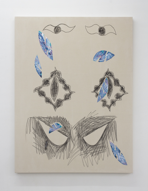 , 'Untitled (Charcoal Triple Eyes),' 2016, SADE