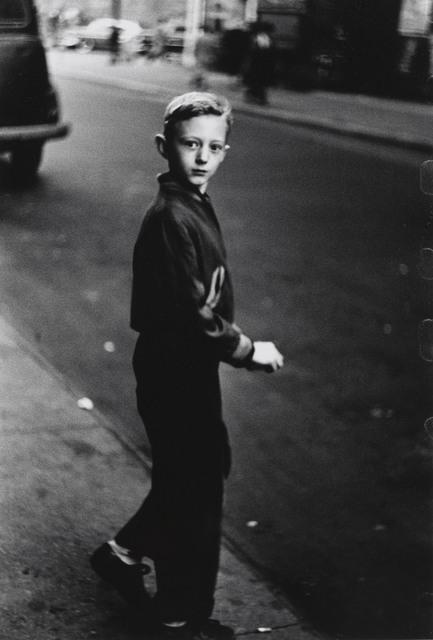 , 'Boy stepping off the curb, N.Y.C. ,' 1957-1958, San Francisco Museum of Modern Art (SFMOMA)