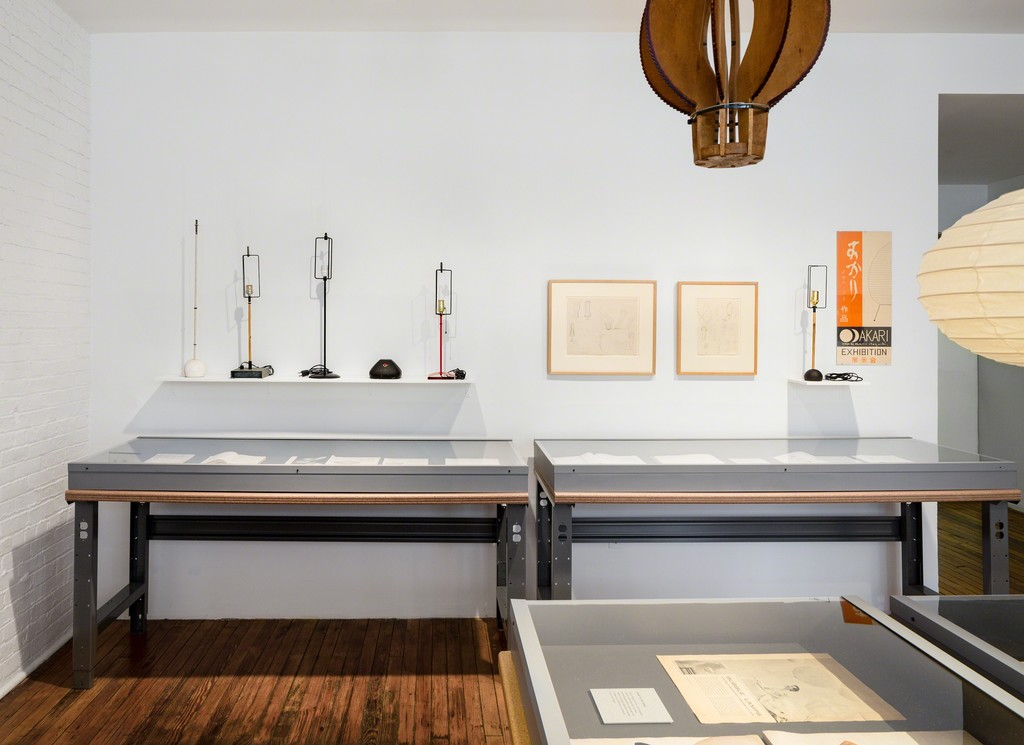 Akari in the Archives. Photo: Nicholas Knight. ©The Isamu Noguchi Foundation and Garden Museum, NY / ARS.