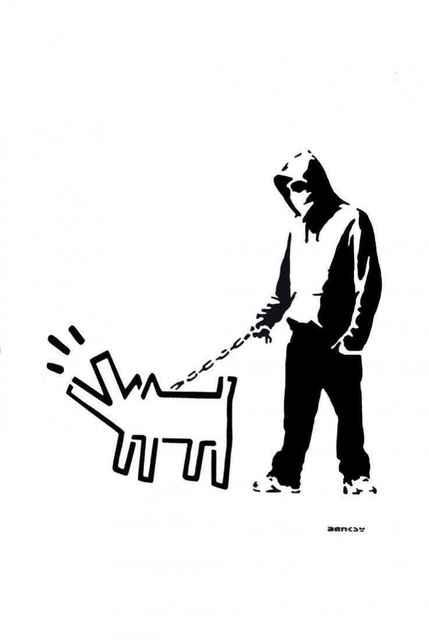 Banksy, 'Hoodie & Haring Dog (After Banksy)', 2017, Leviton Fine Art