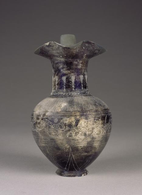 'Bucchero Trefoil Oinochoe',  about 625 -600 B.C., J. Paul Getty Museum