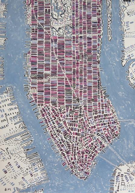 Barbara Macfarlane, 'Violet and Magenta Manhattan', 2017, Rebecca Hossack Art Gallery