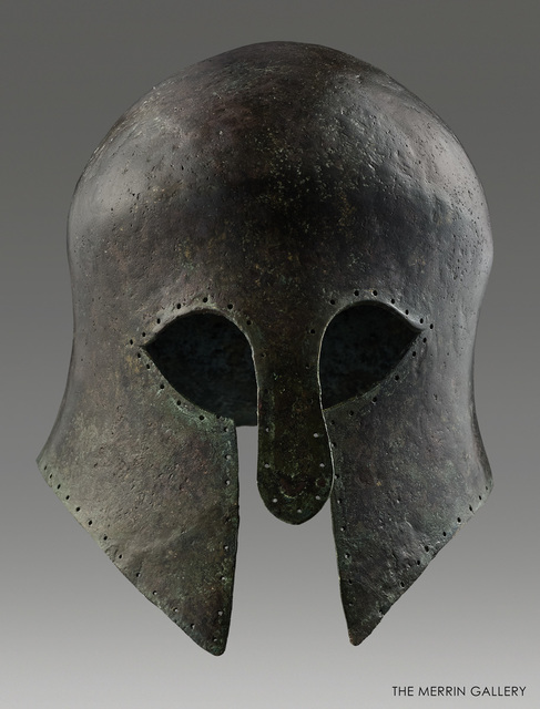 , 'CORINTHIAN HELMET,' 600 BCE, The Merrin Gallery, Inc.