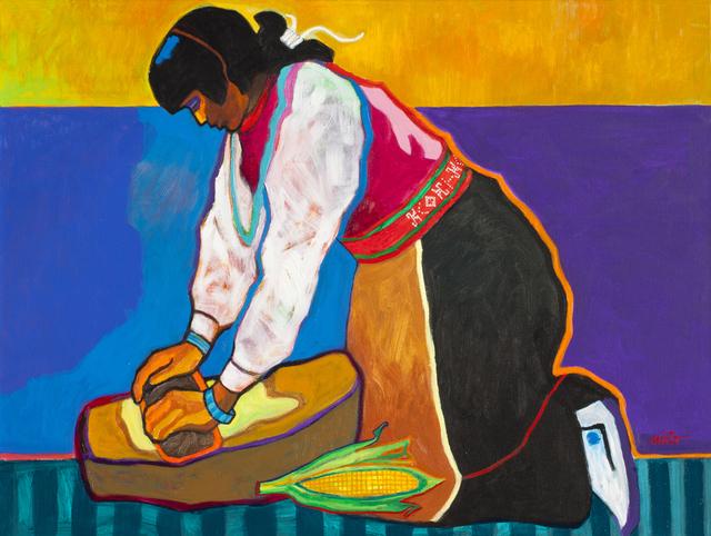 John Nieto, 'Grinding Corn Red Belt', 2015, Ventana Fine Art