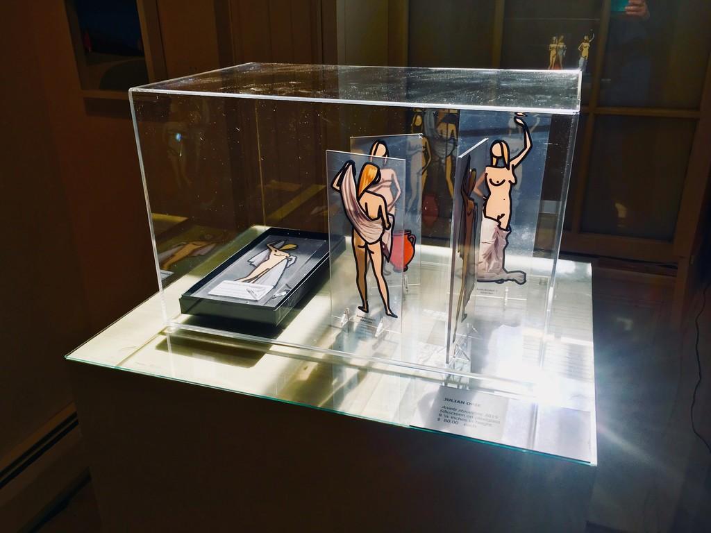 "Julian Opie ""Aniela statuettes"" , 2015, silkscreen on plexi, 8 1/4 inches ht."