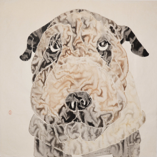 Weiqi Wang, 'Wrinkles', 2014, Painting, Chinese brush painting, Ronin Gallery