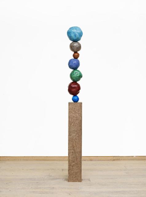 , 'Bronze Stack 7, Cobalt Blue Pale,' 2017, Winston Wächter Fine Art
