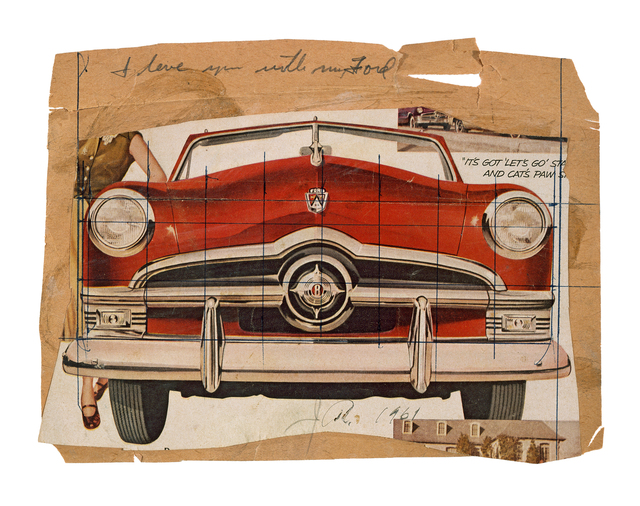 , 'Collage for I Love You with My Ford,' 1961, Museum Ludwig