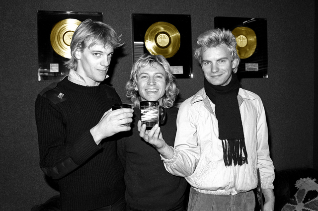 Richard E. Aaron, 'The Police 1978 Colorized Gold Records on Hahnemuehle paper', White Cross