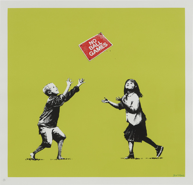 Banksy, 'No Ball Games (Green)', 2009, Phillips