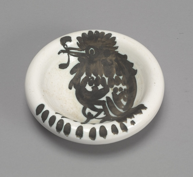 Pablo Picasso, 'Oiseau au ver (A.R. 172)', 1952, Other, Terre de faïence ashtray, painted and partially glazed, Sotheby's