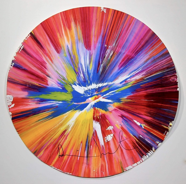 "Damien Hirst, '""Circle Spin Painting"" signed recto.', MultiplesInc Projects"