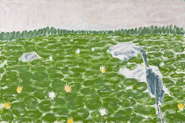 , 'Lily Pond, Blue Heron,' , Dowling Walsh