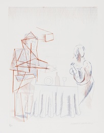 David Hockney, 'Figures with Still Life (S.A.C 187),' 1976-77, Forum Auctions: Editions and Works on Paper (March 2017)
