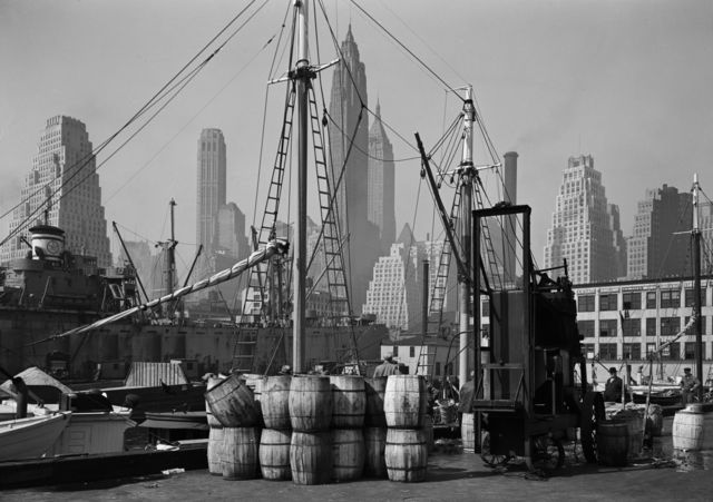 , 'Fulton Fish Market Wharf, New York,' 1946, Todd Webb Archive