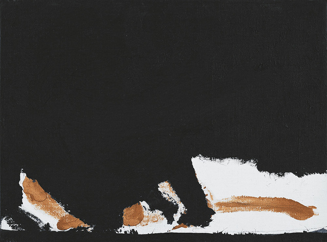 , '[Untitled (Black, Ochre)],' ca. 1964, William Shearburn Gallery