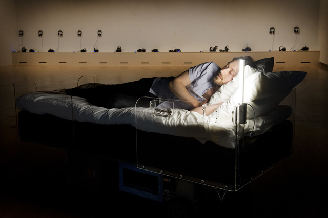 , 'Two Roaming Beds,' 2015, Hayward Gallery at Southbank Centre