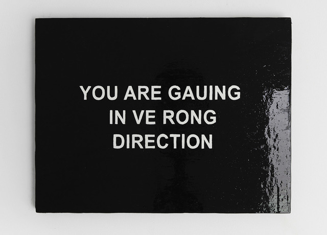 , 'YOU ARE GAUING IN VE RONG DIRECTION,' 2016, carlier | gebauer