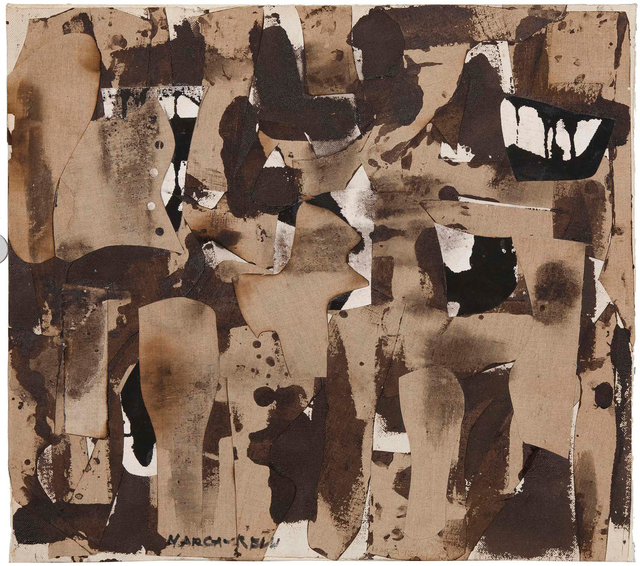 Conrad Marca-Relli, 'J-S-22-57', 1957, Painting, Oil and canvas collage on canvas, Michael Rosenfeld Gallery
