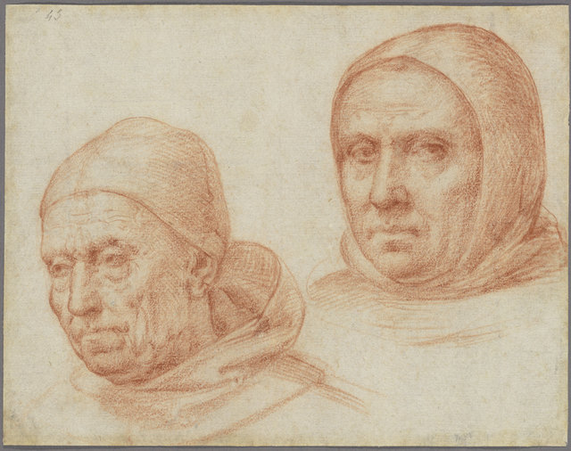 , 'Heads of Two Dominican Friars,' ca. 1511, J. Paul Getty Museum