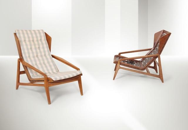 Gio Ponti, 'armchairs, Cassina', 1957, Cambi