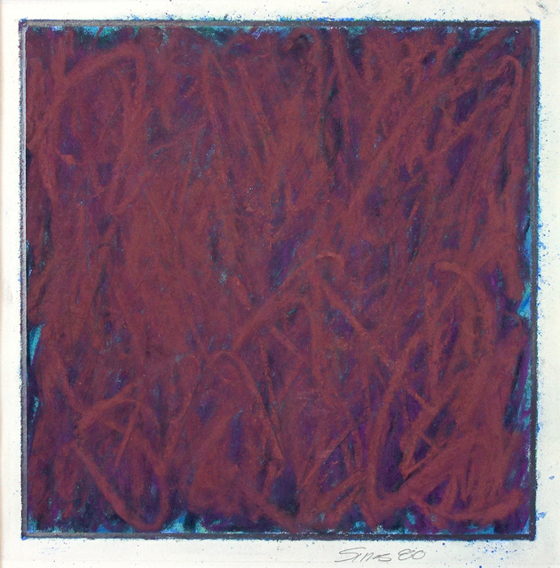 Phil Sims, 'Untitled (maroon)', 1980, George Lawson Gallery