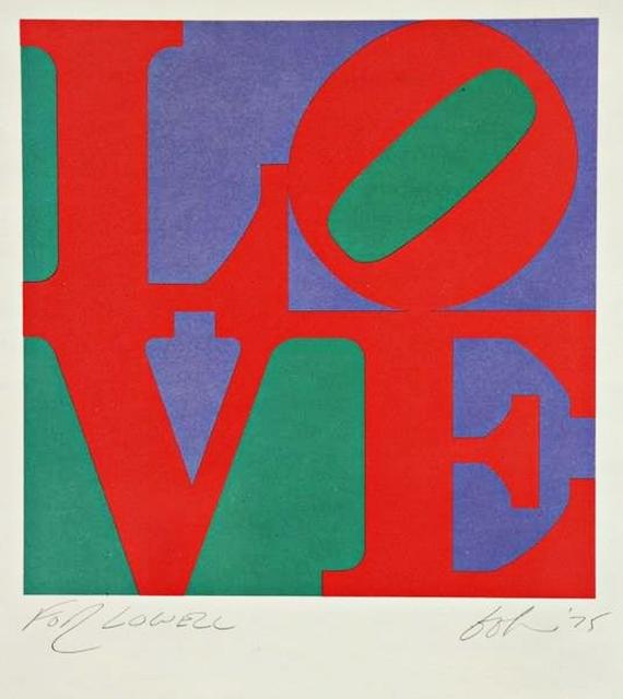 , 'LOVE Dedicated to Lowell Nesbitt,' 1975, Alpha 137 Gallery