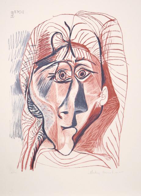 Pablo Picasso, 'Visage de Femme de Face, 1970', 1979-1982, Print, Lithograph on Arches paper, RoGallery