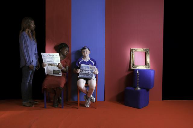 , 'Bichromie au regard trompeur,' 2014, Officine dell'Immagine