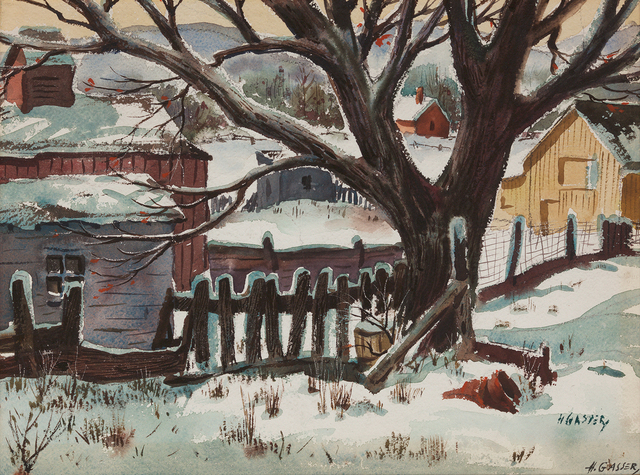 , 'Winter in the Country ,' , Questroyal Fine Art