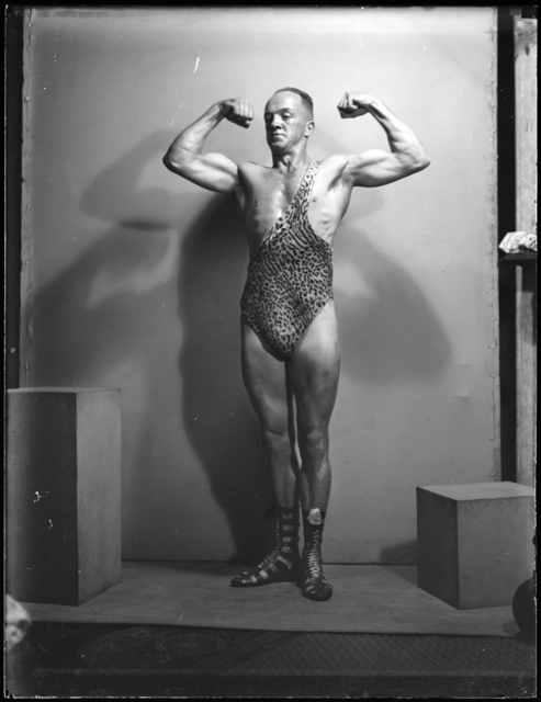 Tom Lennon, 'Portrait of strongman Don Athaldo', 1936, Powerhouse Museum