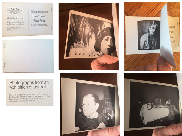 """Cindy Sherman, '""""Photographs from an Exhibition of Portraits"""", Group Exhibition Catalogue, CEPA Gallery, (Sherman's first instance in print)', 1981, Ephemera or Merchandise, Print on paper, VINCE fine arts/ephemera"""
