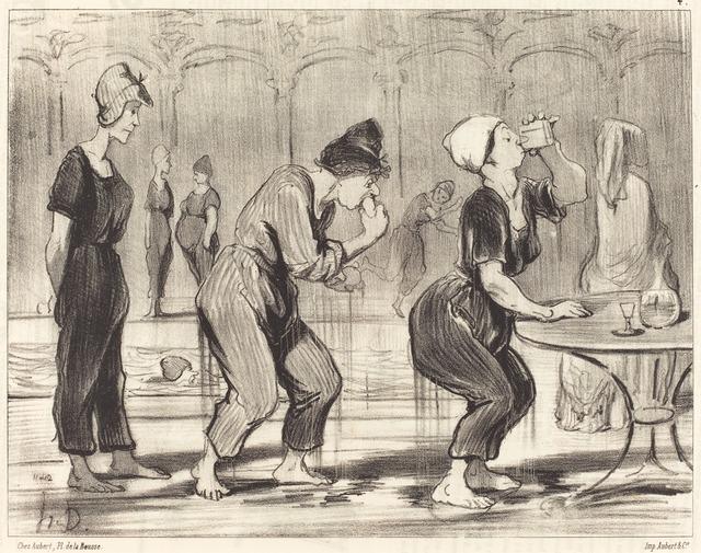 Honoré Daumier, 'Entre deux plongeons', 1847, National Gallery of Art, Washington, D.C.