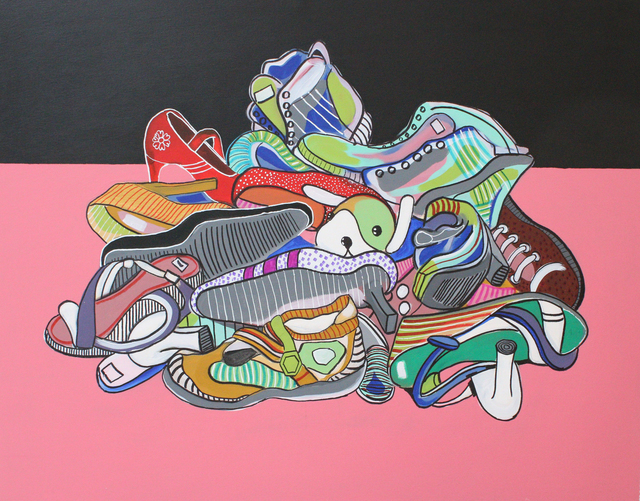 , 'A Pile of Shoes,' 2015, Al Ma'mal Foundation for Contemporary Art