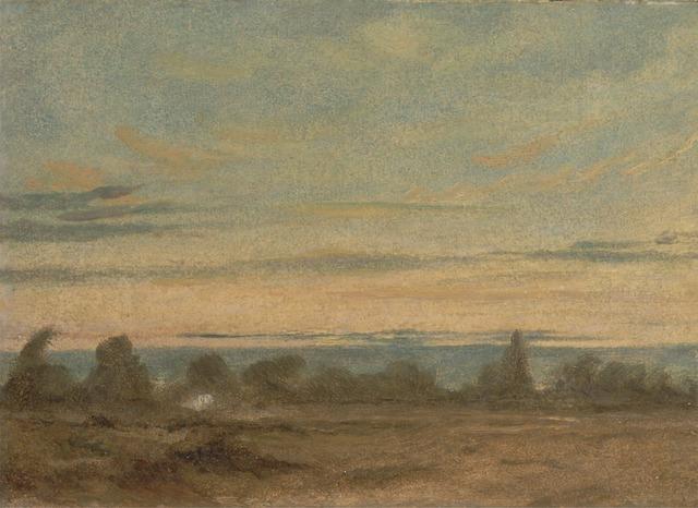 John Constable, 'Summer - Evening Landscape', ca. 1825, Yale Center for British Art