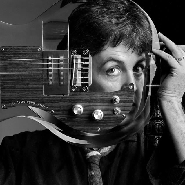 Clive Arrowsmith, 'Paul McCartney, Plexiglass Guitar, Studio London', 1982, Holden Luntz Gallery