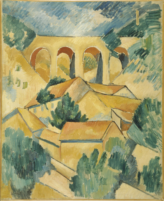 Georges Braque, 'Viaduct at L'Estaque', 1908, Painting, Oil on on canvas, Art Resource