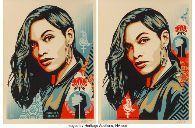 Shepard Fairey, 'Power and Equality: Dove and Flower (two works)', 2019, Heritage Auctions