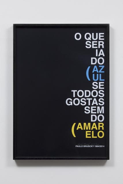 , 'Cartaz,' 2014, Carbono Galeria