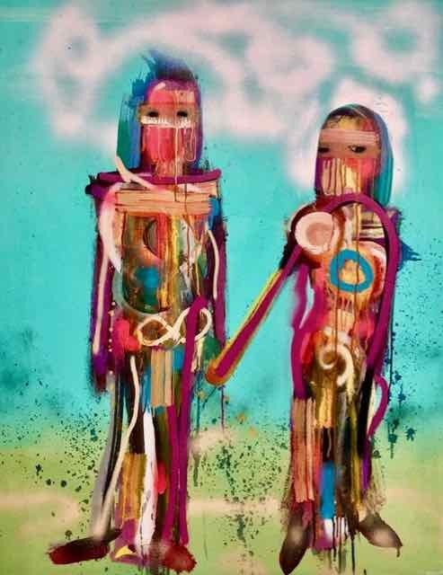 ANDRÉS GARCÍA-PEÑA, 'Soulmates', 2018, Painting, Canvas, Gitana Rosa Gallery