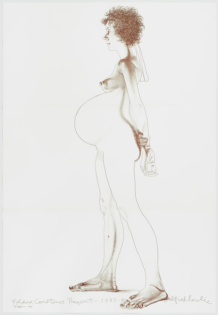 Alfred Leslie, 'Folded Constance Pregnant', 1986, Print, Etching, Graphicstudio USF