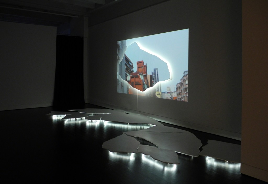 "Installation view of ""Tension"" by Rachel Schmidt."
