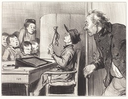 Honoré Daumier, 'Attends... j'te vas en donner... du maitre d'école', 1846, National Gallery of Art, Washington, D.C.