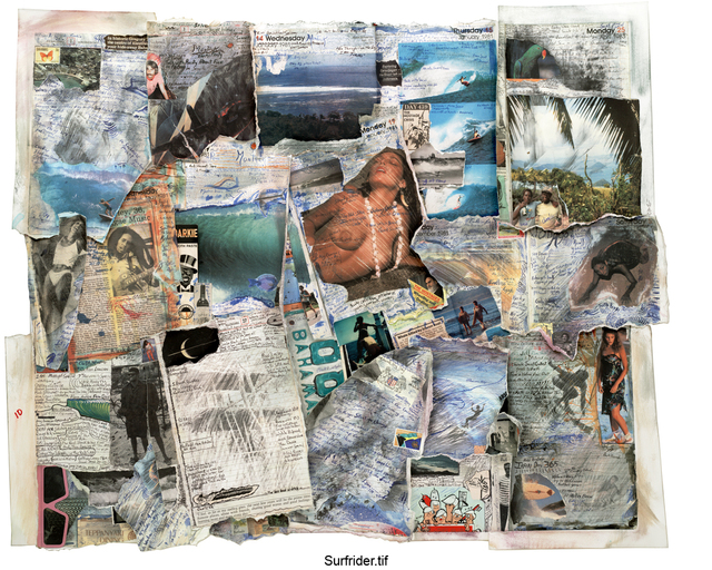 Tony Caramanico, 'Surfrider (Unique Collage for Surfrider Foundation)', 2005, ARC Fine Art LLC