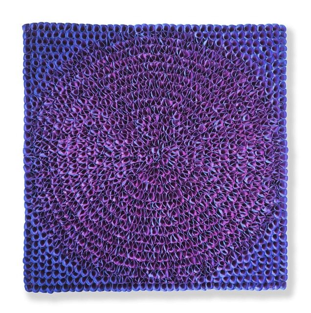 , 'Flower Bed Masterpiece Blue to Purple Circle (Click to see the colors of the Left/ Front / Right sides)  ,' 2018, Nil Gallery