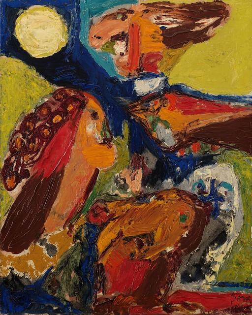 Asger Jorn, 'Trois personnages qui regardent la lune', 1959, Finarte
