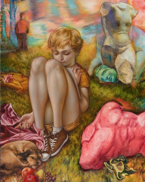 , 'Blondie Bubba in a Drawing Field,' 2016, Philip Slein Gallery